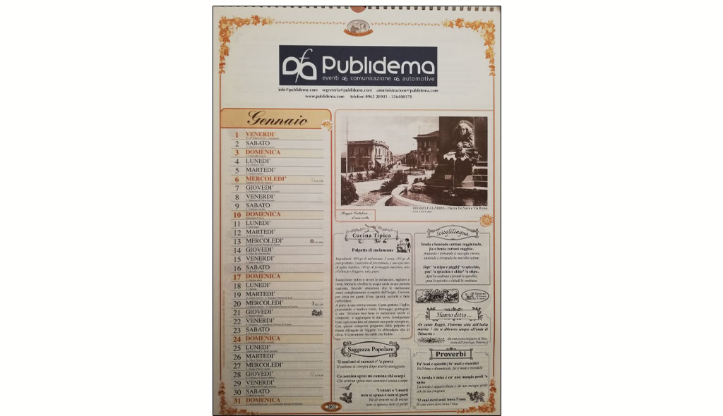 Calendari Mondadori. Editore Celloni